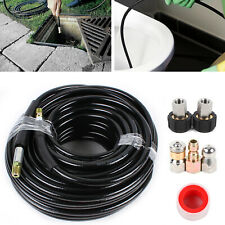 Pressure Parts Sewer Line And Drain Jetter Kit 14 M Npt X 100 Hose 5800 Psi