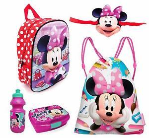 Minnie-Mouse-Disney-3D-con-Maschera-Set-5pezzi-Zainetto-Zaino-3D-scuola-asilo