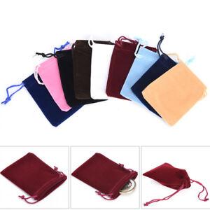 10x-velours-cordon-pochettes-bijoux-cadeau-de-Noel-sac-d-039-emballage-sacs-7x-FE