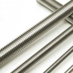 Qty 10 Allthread M4 (4mm) x 1 Metre (1000mm) Stainless SS 304 Threaded Rod Bar