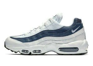 buy popular dc881 02ffb Image is loading Nike-Air-Max-95-WHITE-MONSOON-BLUE-MIDNIGHT-