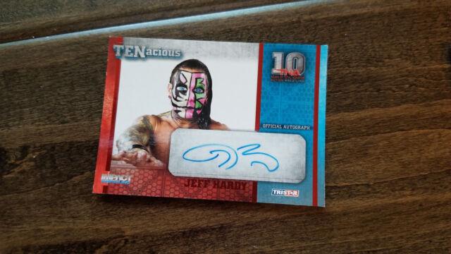 2012 TRISTAR TNA TENACIOUS AUTO SIGNED CARD JEFF HARDY RED 2/10 WWE WWF BOYZ