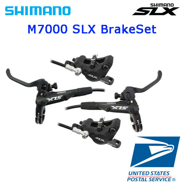 2019 SHIMANO SLX BL BR M7100 Hydraulic Disc Brake Front /& Rear 950//1600mm