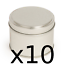 10-Candle-tins-Make-10-silver-colour-candle-container-tins-200ml-Round-step-lid thumbnail 1