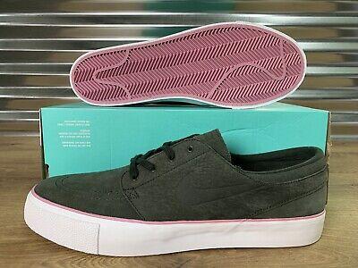 timeless design on feet at shop best sellers Nike SB Zoom Stefan Janoski HT Skate Shoes Sequoia Green Pink SZ ...