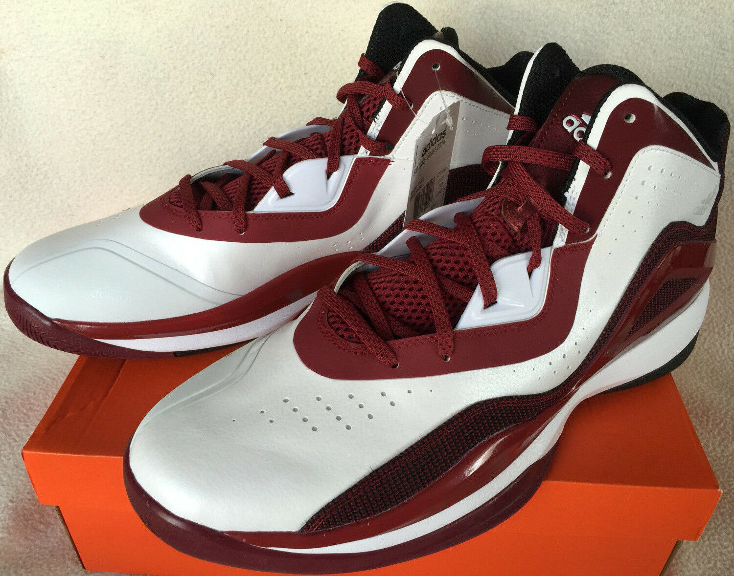 Adidas SM Crazy Ghost 2014 C77306 White Maroon Basketball Shoes Men's 15 NBA new