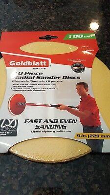 Goldblatt 9 in 220 Grit Hook and Loop Radial Sanding Discs 15-Pack