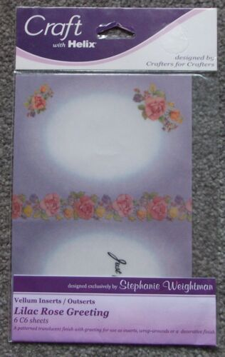 Stephanie Weightman Card Vellum Inserts REDUCED