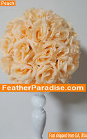 Peach Rose Flower Ball Pomander Wedding Ball Kissing Ball 9-10 Inches