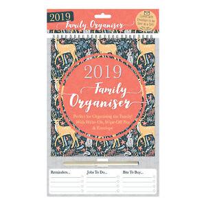 Calendario Scrivibile.Dettagli Su Tallon 2019 Famiglia Pianificatore Calendario Scrivibile Pulire Penna