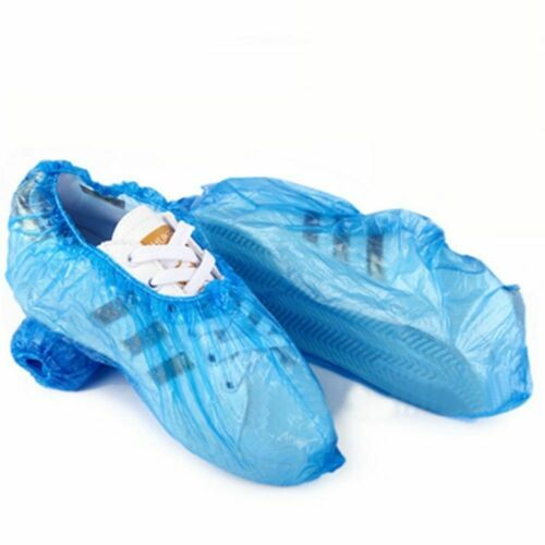 100Pcs Plastic Rain Waterproof Disposable Shoe Covers Overshoes Boot Cover