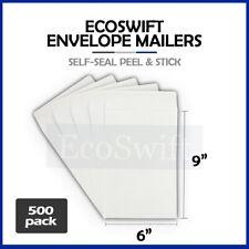 500 White Self Seal Catalog Mailing Shipping Kraft Paper Envelope 28 Lb 6 X 9