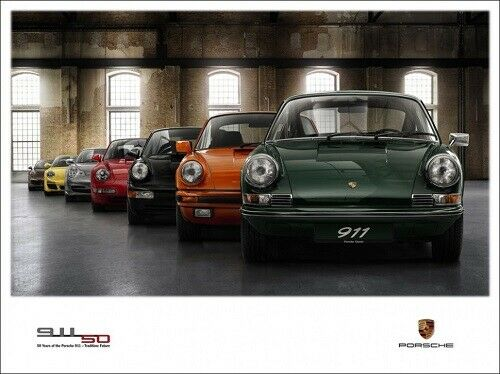 A3 PORSCHE 911 50 YEARS ANNIVERSARY EVOLUTION POSTER BROCHURE PICTURE ART PRINT!