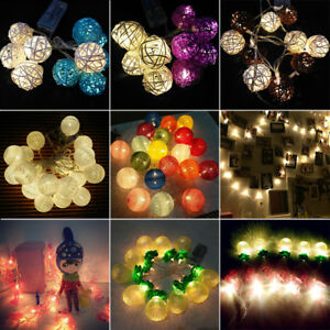 Balls-LED-String-Lights-Warm-White-Fairy-Lights-Party-Starry-Bedroom-Night-Decor