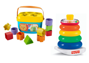NEW! Fisher-Price Baby's First Blocks and Rock Stack Bundle Educational Toy
