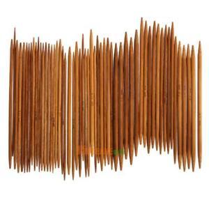 55Pcs-lot-11-Tamanos-5-034-13-cm-doble-punta-agujas-de-tejer-de-bambu-carbonizadas