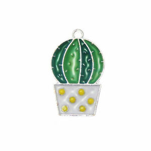Pack-of-10-Enamel-Alloy-Prickly-Pear-Look-Charms-Pendants-DIY-Crafts-24x15-MM