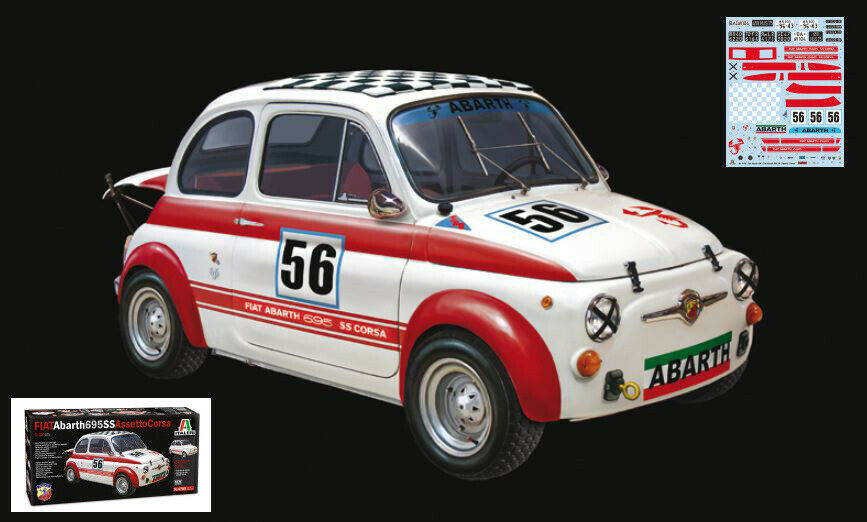 Fiat Abarth 695 SS   695SS A Plastic Kit 1 12 Model 4705 ITALERI