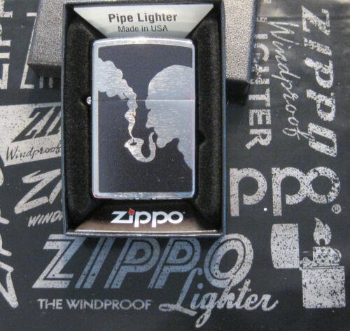 ZIPPO  PIPE Lighter SHERLOCK Design NEW Made in USA  Mint In Box UNIQUE CHIMNEY