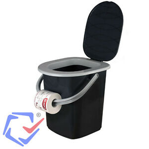 Image Is Loading 22L Portable Camping Festival Toilet Bucket W Seat