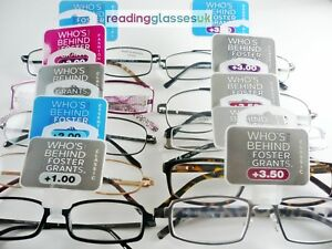 FOSTER-GRANT-READING-GLASSES-Mens-Womens-15-STYLES-1-0-1-25-1-5-2-0-2-5-3-3-5