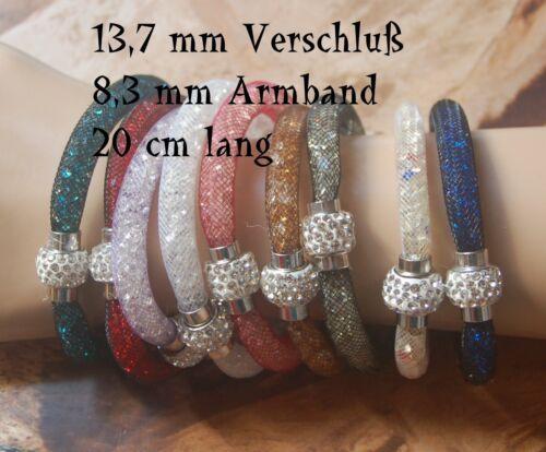Pulsera Mesh con perlas y magnetverschluß 20 cm brazalete pulsera