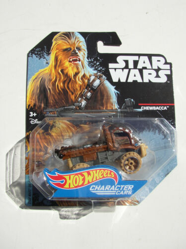 STAR WARS CHEWBACCA 1:64 HOT WHEELS CHARACTER CAR NEW MINT ON BLISTER CARD!