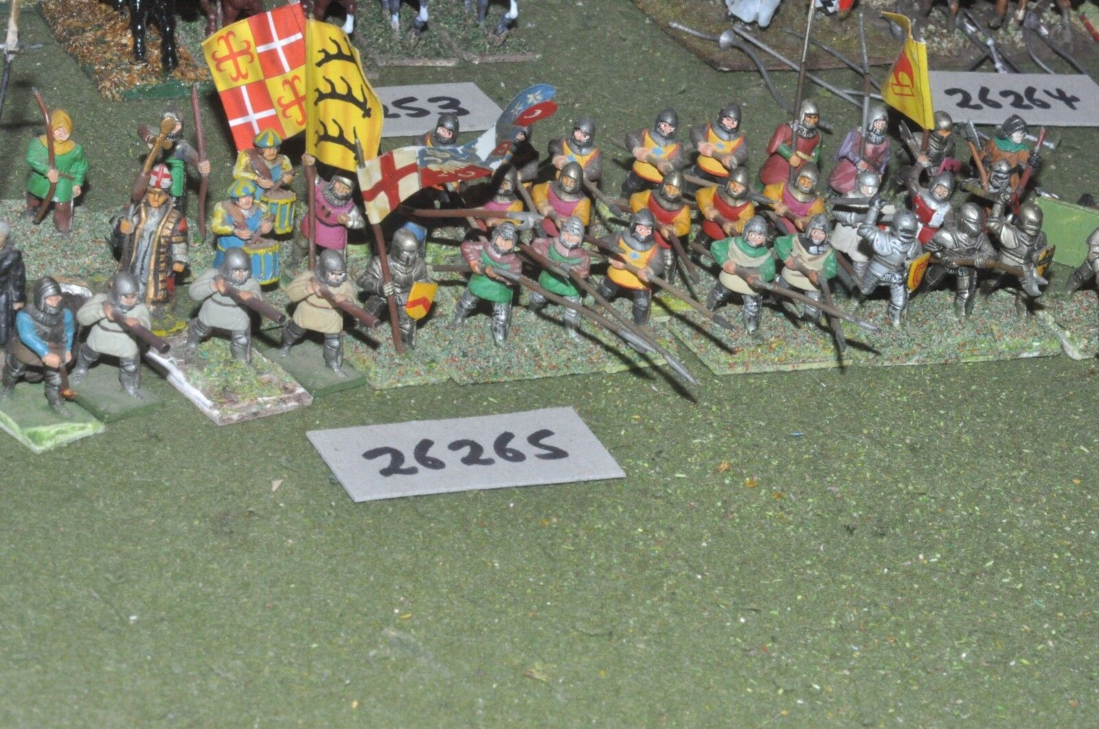 25mm medieval   english - mixed (as photo) - inf (26265)