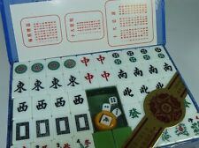 chinese mahjong majian set bamboo green 144 tiles family game Boys & Girls.