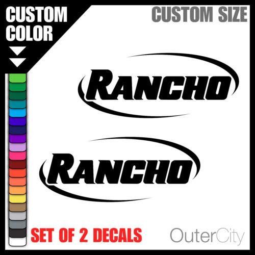 4x4 Jeep Ford GMC Truck Car Bumper Sticker Label 2x RANCHO SHOCKS VINYL DECAL