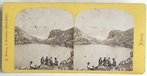 Suisse Passage il Passo Del Grimsel Lac Dei Morti Foto Braun - Vintage Albumina