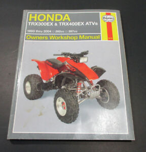 1993 2004 honda atv quad 282cc 397cc trx300ex trx400ex repair rh ebay com 2004 honda 400ex owners manual 2004 honda 400ex service manual