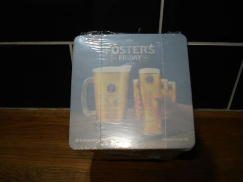 X100FOSTERS FRIDAY LARGER// BEER MATS  NEW
