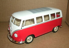 1/24 Scale 1963 Volkswagen T1 Bus Diecast Model - Red VW Microbus Welly 22095
