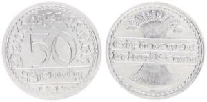 Inflationszeit Empire 50 Pfennig J.301 1919 D Almost St 34451