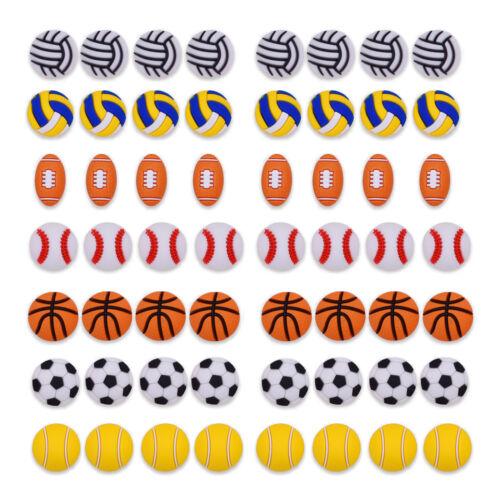 US STOCK Sports//Hole Shoe Charms Accessory PVC Basketball Baseball Non-Toxic PVC