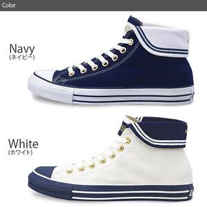 c9d3e66f1f94 Details about Converse hi top Japanese JK high school girl sailor shoes  blue white UK 6 EUR 39