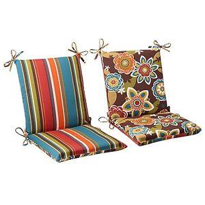Patio Deck High Back Chair Cushions Set