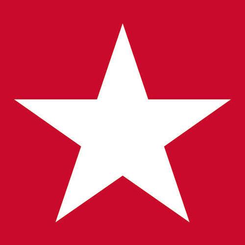 Ambiente Napkins Star Red 20 Piece Red Star White 3-lagig 33 CM Stars Deco