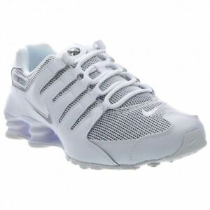 huge discount 2e272 58571 Details about Mens Nike Shox NZ Premium Sneakers New, White / Gray Mesh  833579-100 sz 10