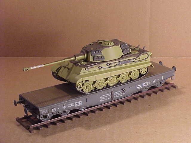 Modelcollect AS72113 Schwerer Plattformwagen Type ssyms 80 Fertigmodell in 1:72