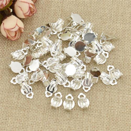 1.0x1.5cm pendiente clip en los resultados de Hierro Craft Supply 50 un.//Conjunto de fabricación de joyas