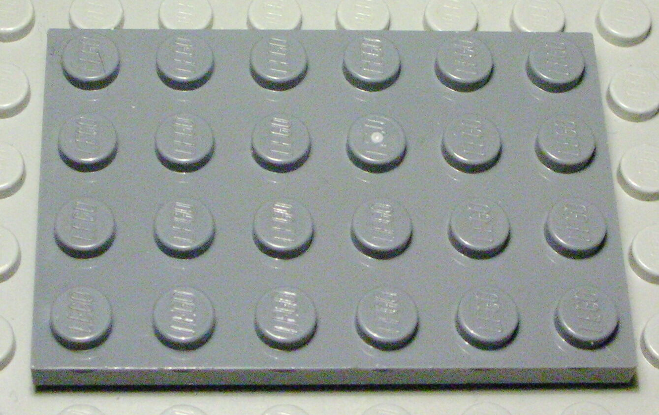 Lego Platte 4x4 new Grau 3 Stück 937