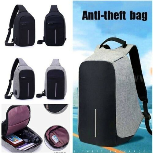 Men Casual Fashion Laptop Backpack/&Crossbody Bags Anti-theft Notebook School Bag