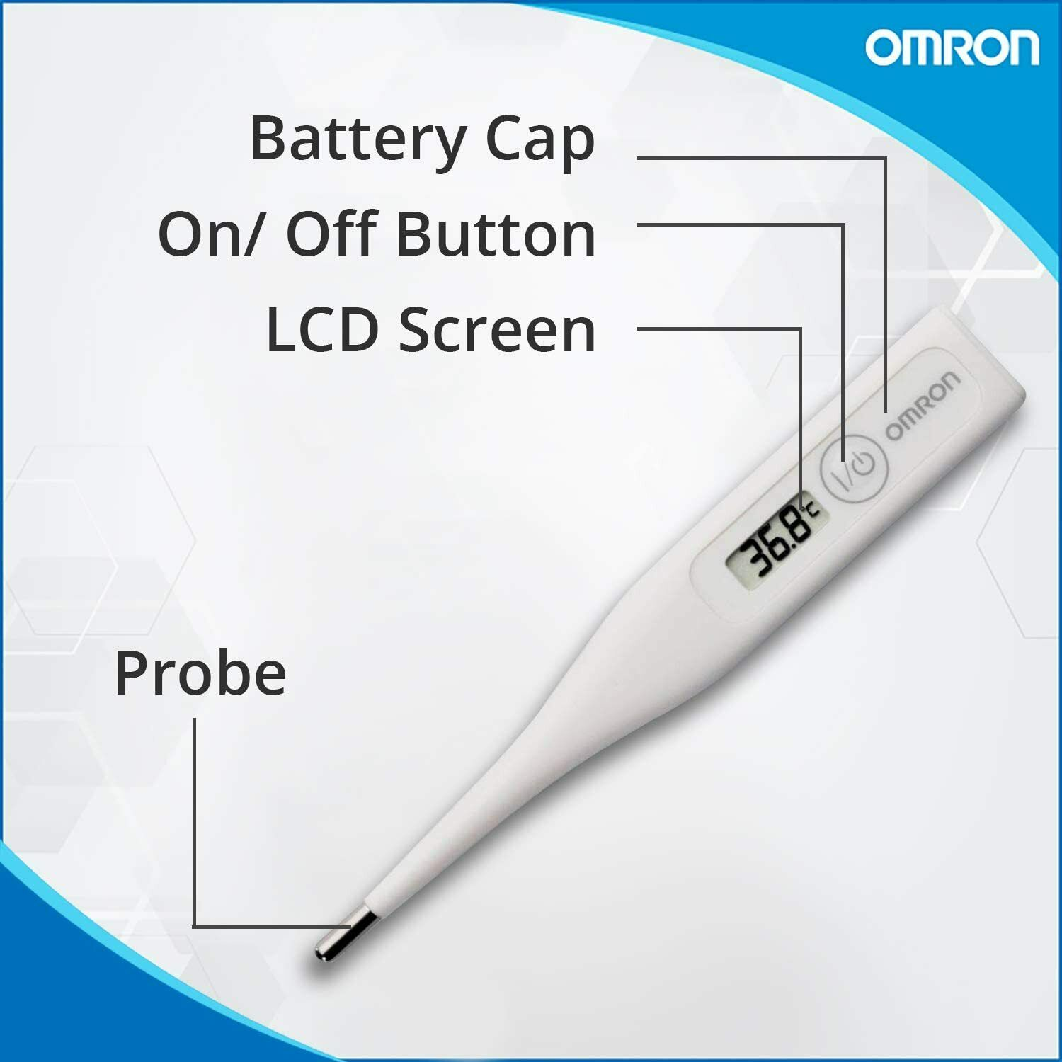 Digital OMRON LCD Thermometer Medical Baby Adult Body Safe Ear Mouth Temperature 3