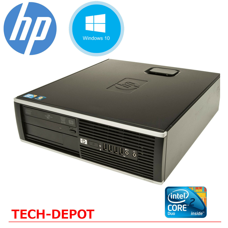 hp desktop computer pc core 2 duo windows 10 4gb 160gb hd 19 lcd monitor wifi ebay. Black Bedroom Furniture Sets. Home Design Ideas
