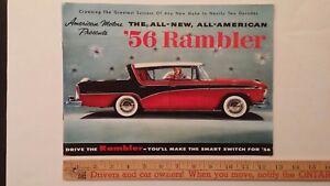 1956-AMC-Rambler-Sedan-Wagon-Dealer-Sales-Brochure-Good-Condition-USA