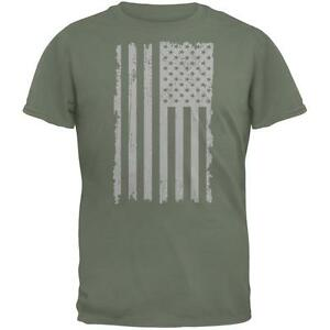 4th-of-July-Distressed-Grey-Vertical-American-Flag-Military-Green-Adult-T-Shirt