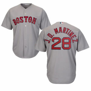 super popular f72d2 ad1d5 Details about J.D. Martinez #28 Boston Red Sox Majestic Cool Base Gray Road  Jersey 2XL