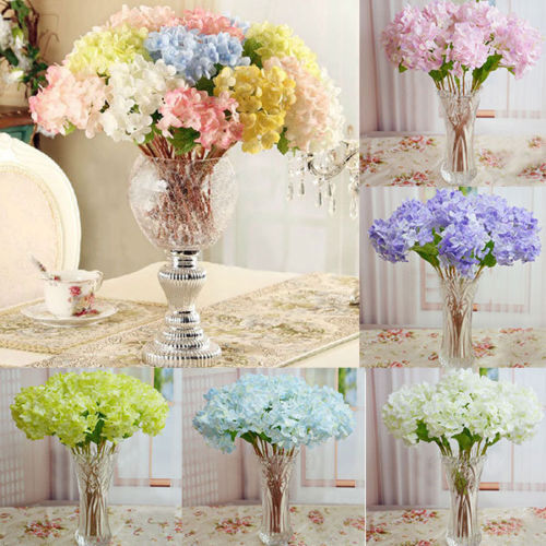 Artificial Craft Hydrangea Bouquet Party Wedding Fake Bridal Silk Flowers New